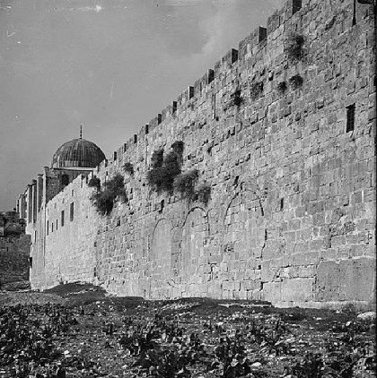 The Temple Mount's southern wall