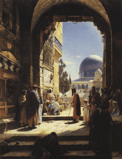 Painting of the Cotton Merchants' Gate to the Temple Mount