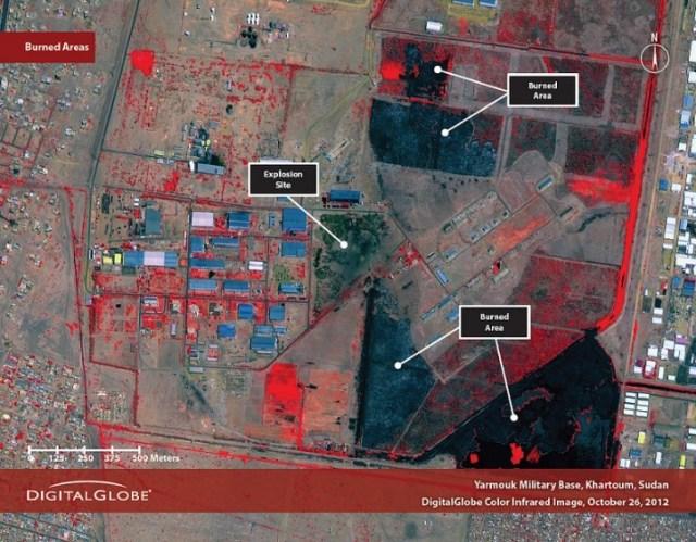 The Yarmouk base in Khartoum, Sudan, on October 26, 2012