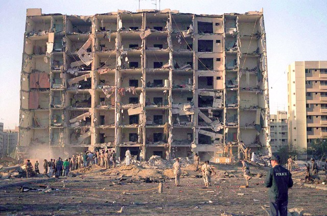 The remains of Khobar Towers, Saudi Arabia.