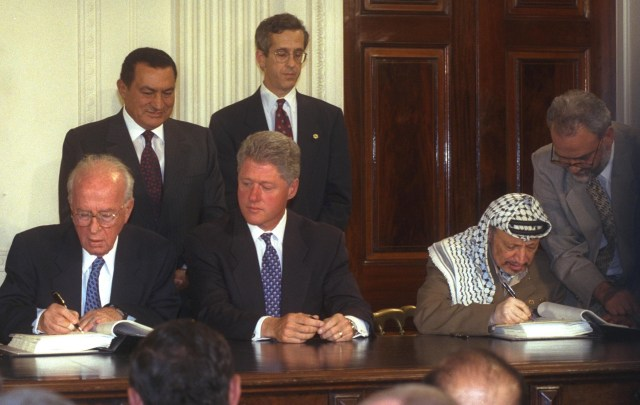 Signing of the 1995 Interim Oslo Accord