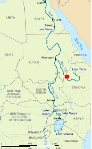 The Renaissance Dam on the Nile River that could lead to hostilities between Egypt and Ethiopia