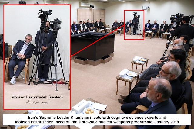 January 2019 meeting with Iran's Supreme Leader Khamenei