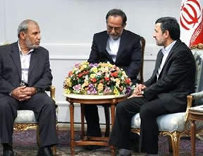 Al-Zahar with Ahmadinejad
