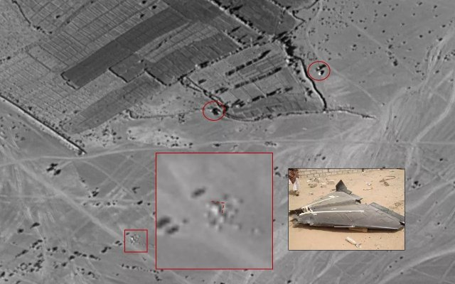 Shahed-136 unmanned aerial vehicle deployed to Yemen's northern Al-Jawf province