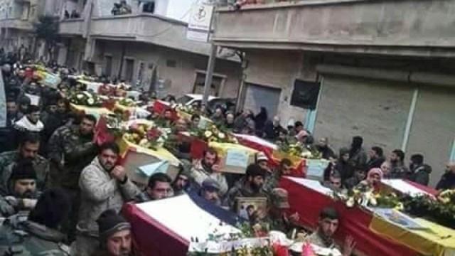 Mass Hizbullah funeral in Lebanon, June 19, 2016