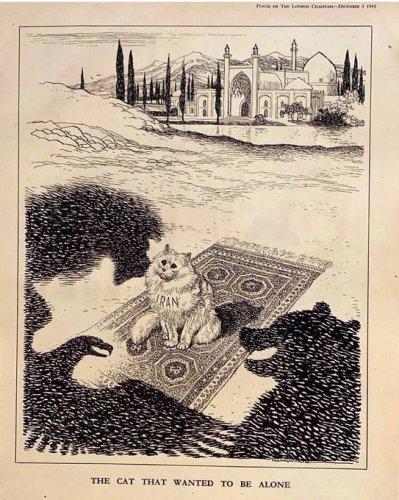 "Cartoon of the ""Iranian cat"""