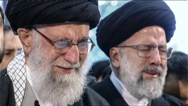 Ali Khamenei and Ebrahim Raisi