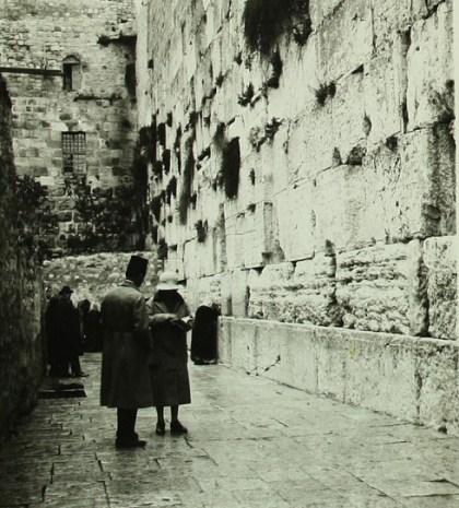 The Western Wall, circa 1920