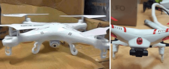 The UAVs seized by Israeli authorities