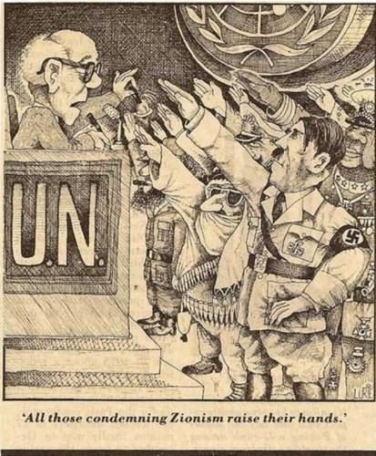Zionism Is Racism cartoon