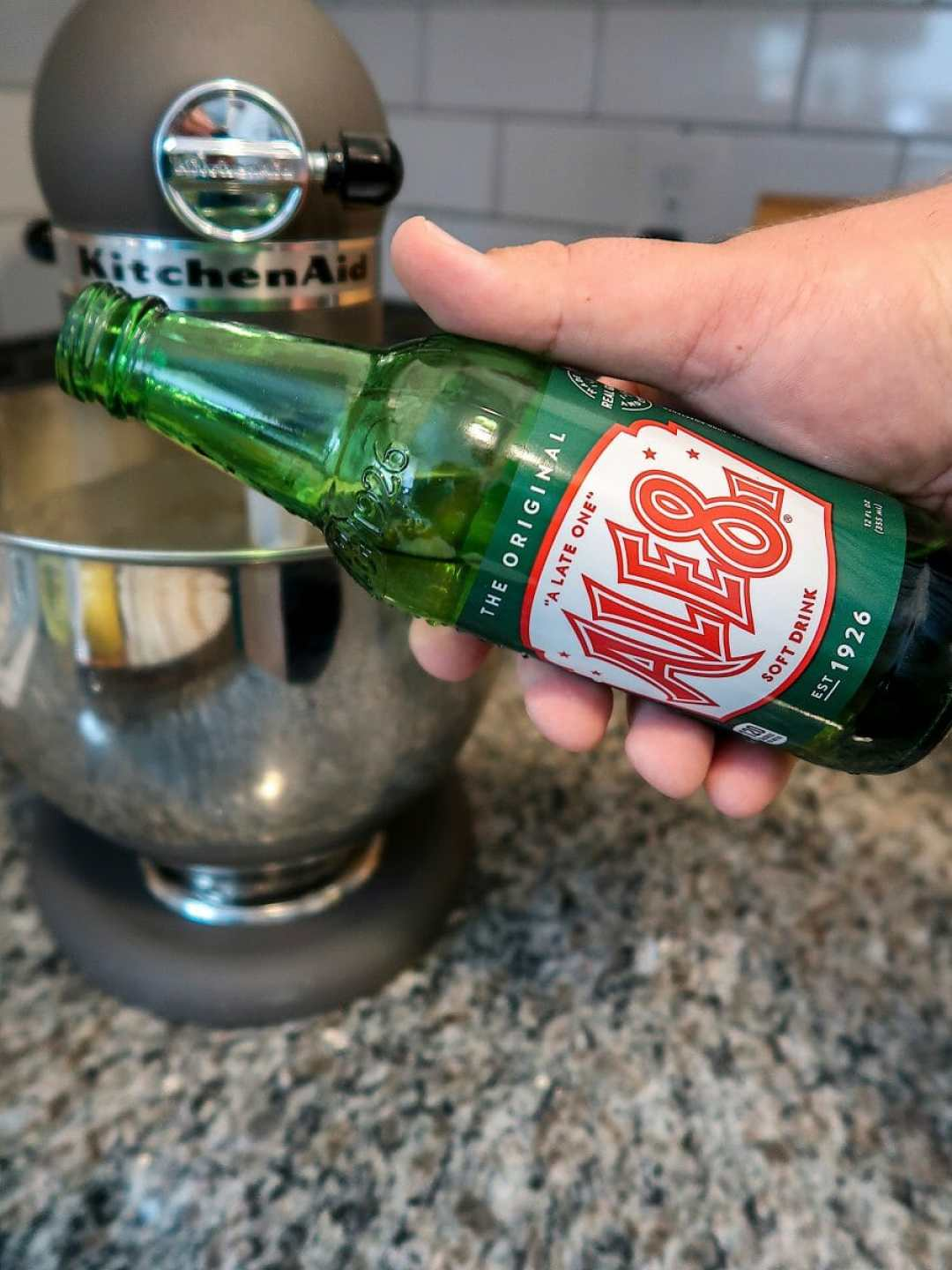 Ale-8-One and mixing bowl