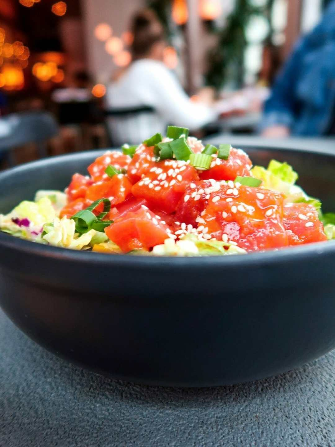 Tuna poke bowl at Porch Kitchen and Bar, Downtown Louisville, KY