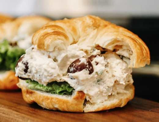 The Best Southern Chicken Salad Recipe - With Mayonnaise, Sour Cream, Grapes, and Celery