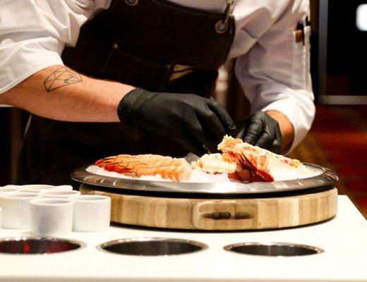 Tableside Seafood Service, Matt Winn's Steakhouse, Churchill Downs, Louisville KY