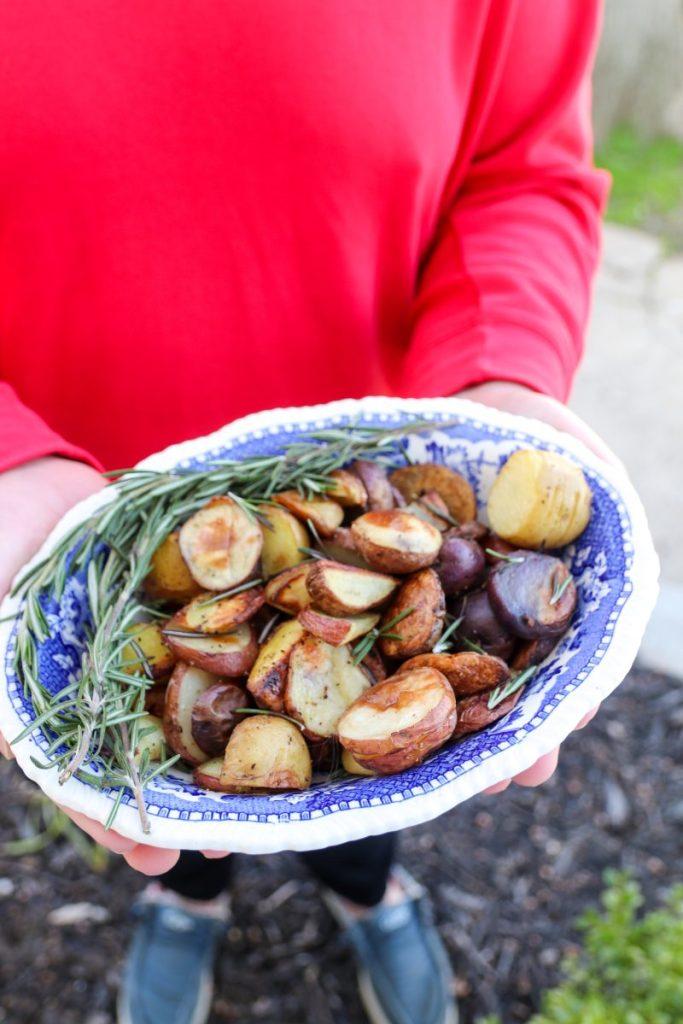 Ginger Rosemary Roasted Potatoes
