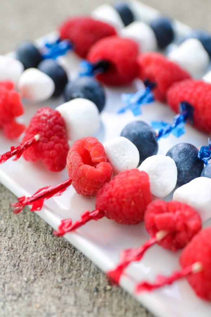 How To Make Patriotic Fruit Skewers