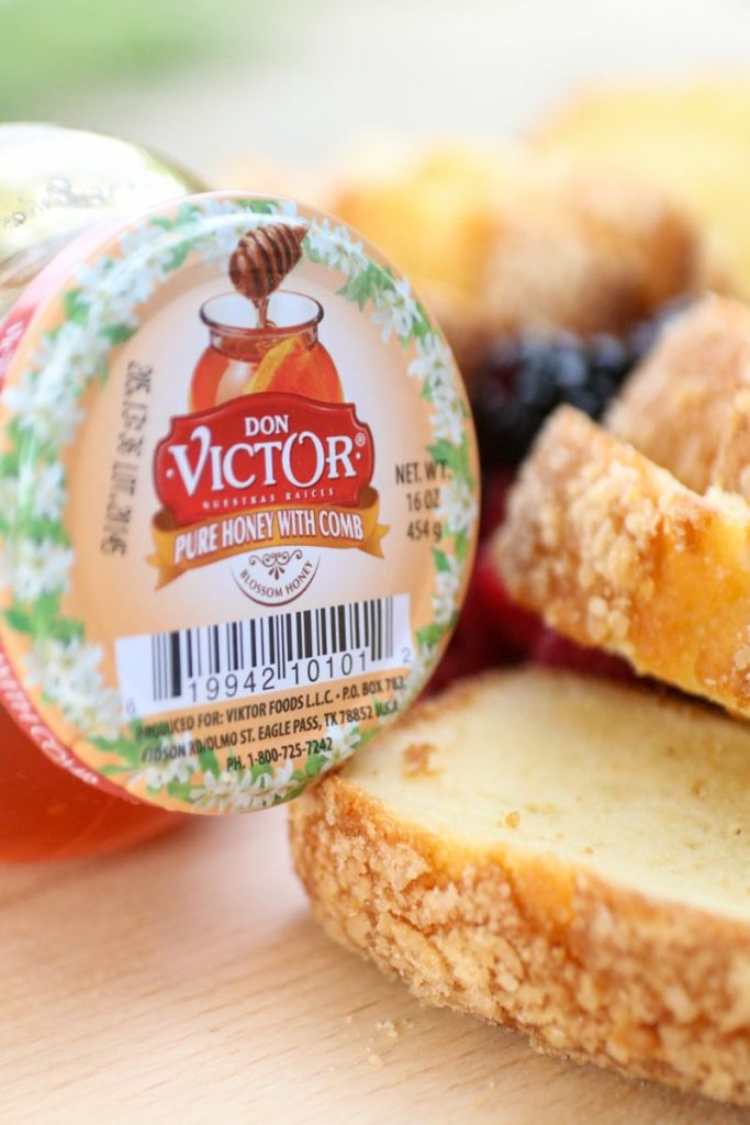 Southern Honey Pound Cake With Don Victor Honey