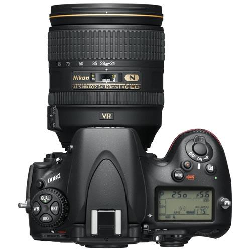 Nikon D800 top angle