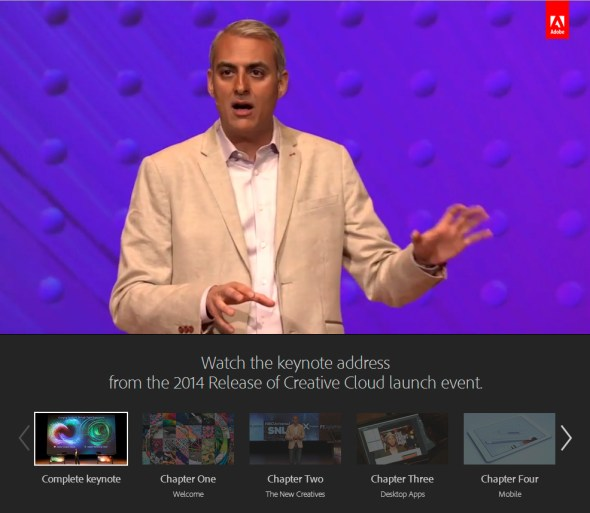 Watch the full keynote on Adobe