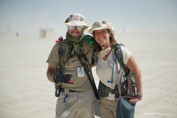Black Rock City Rangers making Burning Man safe.