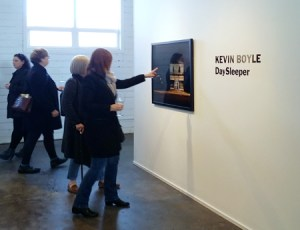Kevin Boyle opening of Daysleeper at the Christine Klassen Gallery