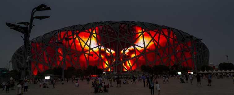 The Birds Nest Stadium in Beijing