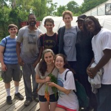 Growing Home welcomed Or Tzedek to their farm, teaching the teens how to pick and plant vegetables and work towards sustainable solutions for Englewood's food desert.