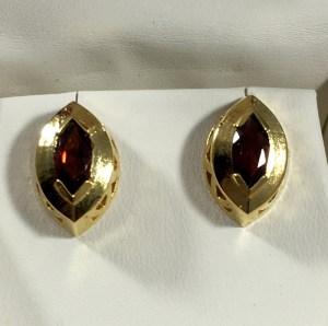 Marquise Garnet Stud Earrings