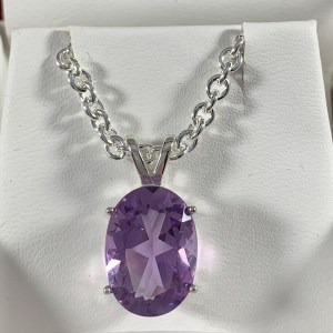 Amethyst Solitaire Necklace