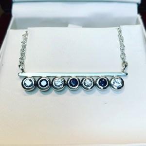 Sapphire & Diamonds Bar Necklace