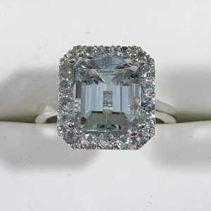The Felina Aquamarine Engagement Ring