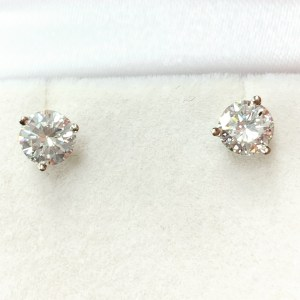 4 Carat Round Diamond Stud Earrings