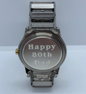 Watch - Engraved watch back