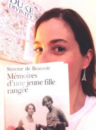 """One of my fav French books from my studies at Salem College. Translated: """"Memoirs of Well-Behaved Girl."""""""