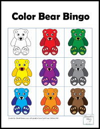 Color Games for Kids with a Bear Theme