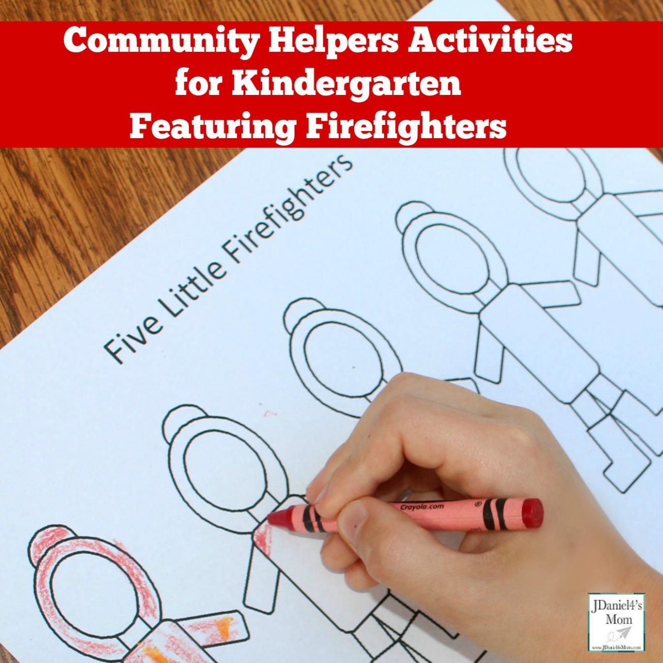 Community Helpers Activities For Kindergarten Featuring