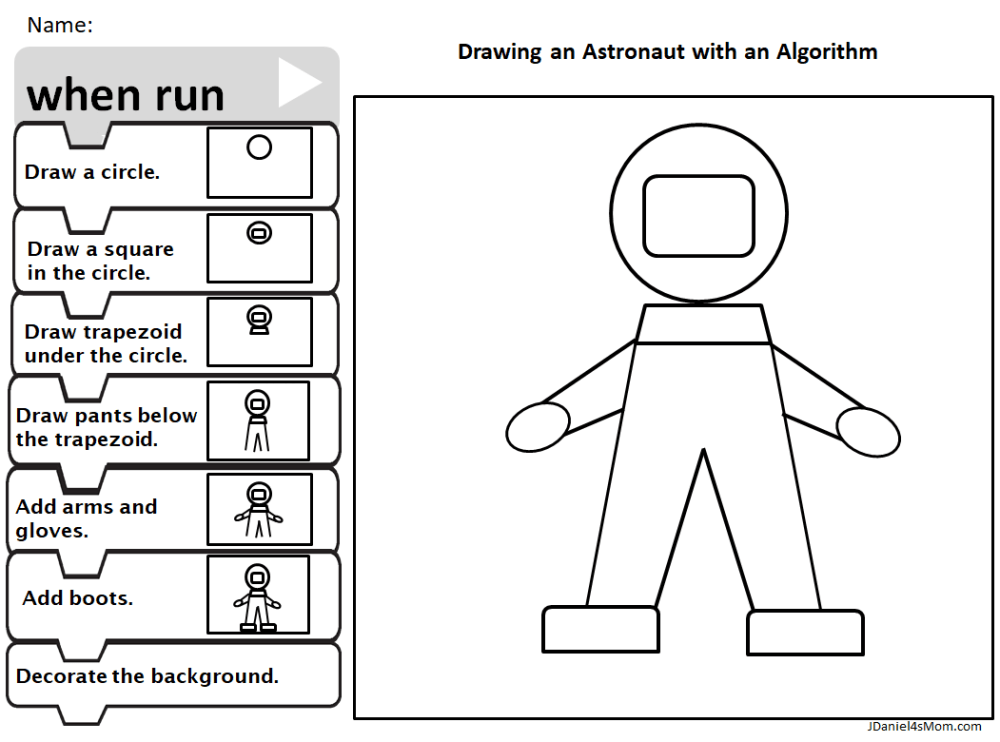 medium resolution of How to Draw an Astronaut with an Algorithm - JDaniel4s Mom