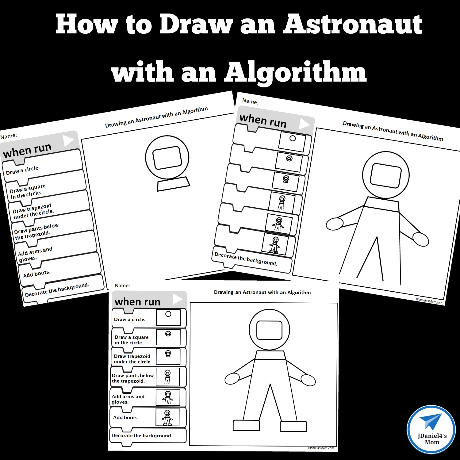 hight resolution of How to Draw an Astronaut with an Algorithm - JDaniel4s Mom