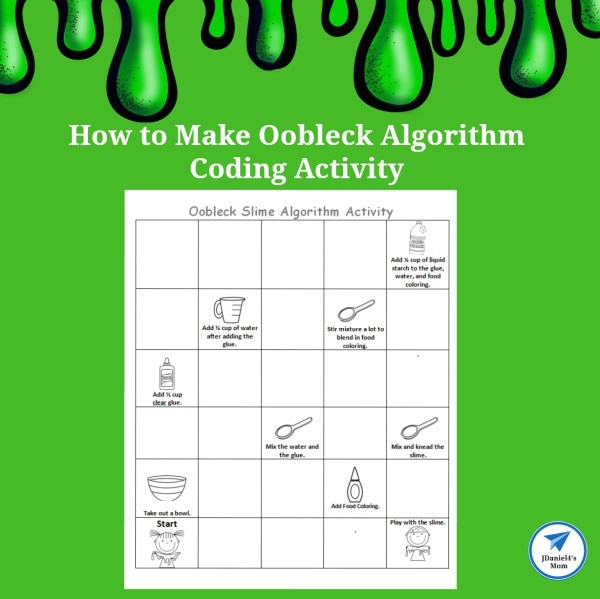 Make Oobleck Algorithm Coding Activity - Jdaniel4s Mom