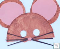 If You Take A Mouse to School Paper Plate Mask For Kids