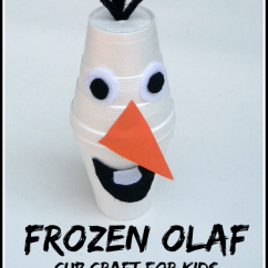 Kitchen Sink Pipe Cleaner Antique Faucets Frozen Olaf Cup Craft For Kids