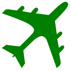 airplane_silhouette_greensvg