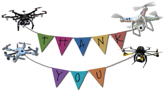 thank you drone banner