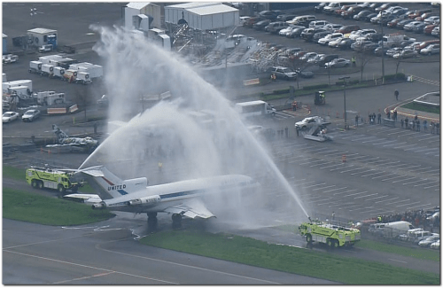 The Museum of Flight expects to receive a recently restored Boeing 727 prototype on Tuesday after its final flight from Paine Field in Everett