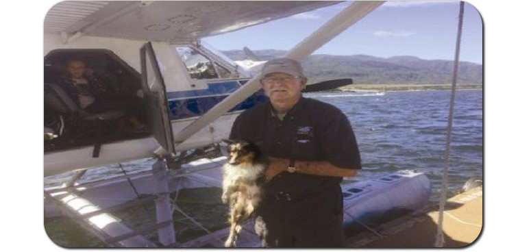 alaskan floatplane rescues dog