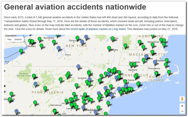 general aviation accidents nationwide