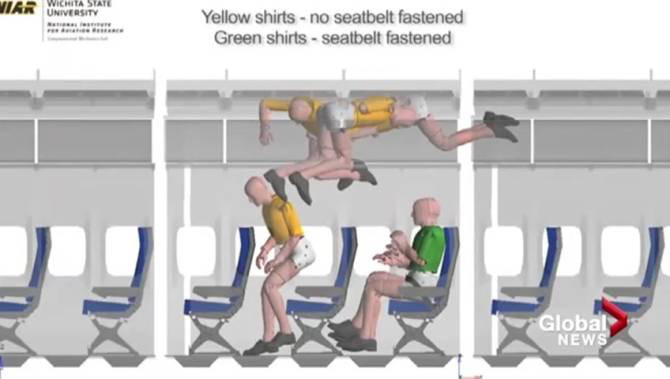 air turbulent seatbelt study