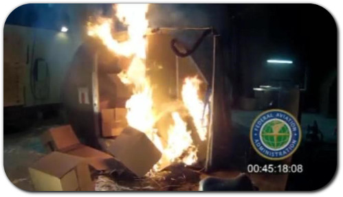 Lithium ion battery fire airline