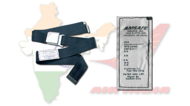 air india seat belt idgca